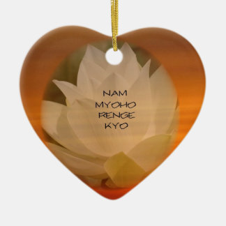 "SGI Buddhist Ornament: Lotus ""Nam Myoho Renge Kyo"" Ceramic Ornament"