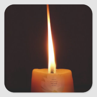 SGI Buddhist Sticker with Lotus Candle and NMRK