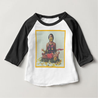 Sha Davis Meditation floral design Baby T-Shirt