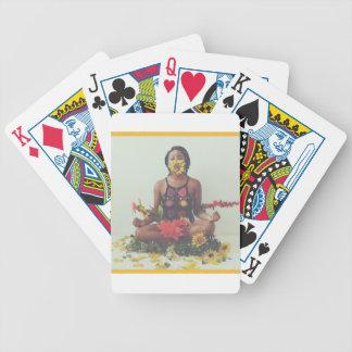 Sha Davis Meditation floral design Bicycle Playing Cards