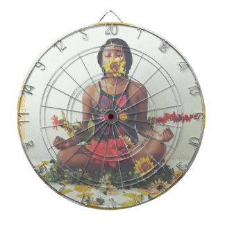 Sha Davis Meditation floral design Dartboard
