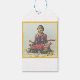 Sha Davis Meditation floral design Gift Tags