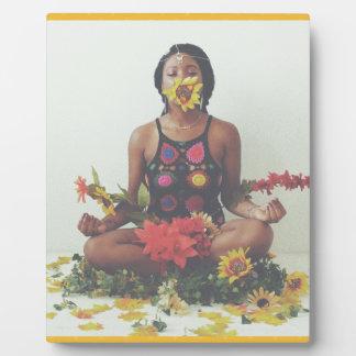 Sha Davis Meditation floral design Plaque