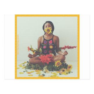 Sha Davis Meditation floral design Postcard