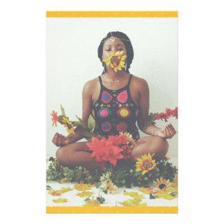 Sha Davis Meditation floral design Stationery