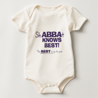 ShABBAt Abba Knows Best Baby Bodysuit