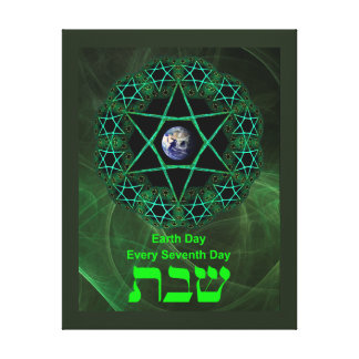 Shabbat - Earth Day Stretched Canvas Print