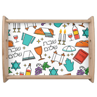 Shabbat Shalom Serving Tray
