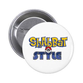 Shabbat Style 6 Cm Round Badge