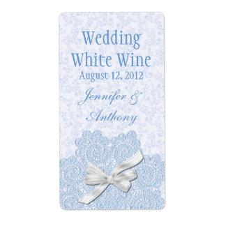 Shabby Blue Victorian Wedding Mini Wine