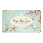 Shabby Blue Vintage Watercolor Floral Pack Of Standard Business Cards