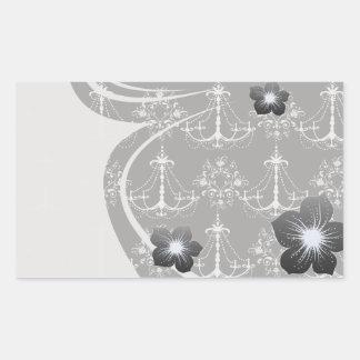 shabby chandelier white black damask stickers