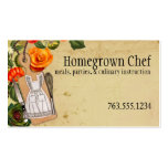 Shabby chic apron knife whisk chef catering cards business card template