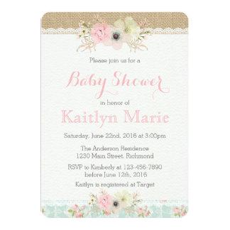 Shabby Chic Baby Shower Invitation