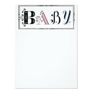 "Shabby Chic Baby shower invite 5.5"" X 7.5"" Invitation Card"