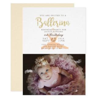 Shabby Chic Ballerina Birthday Party Invite