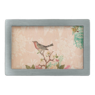 Shabby chic, bird,butterfly,lace,floral,country, belt buckle