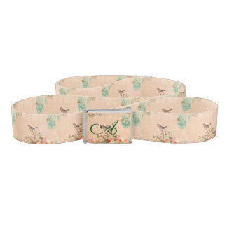 Shabby chic, bird,butterfly,lace,floral,country ch belt