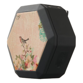 Shabby chic, bird,butterfly,lace,floral,country ch black bluetooth speaker