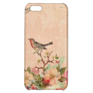 Shabby chic, bird,butterfly,lace,floral,country ch case for iPhone 5C
