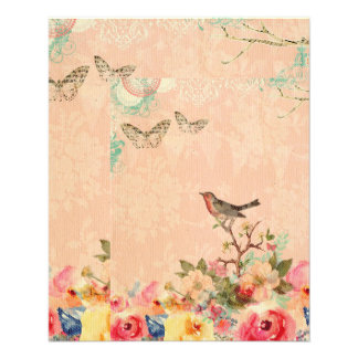 Shabby chic, bird,butterfly,lace,floral,country ch flyer