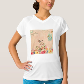 Shabby chic, bird,butterfly,lace,floral,country ch T-Shirt
