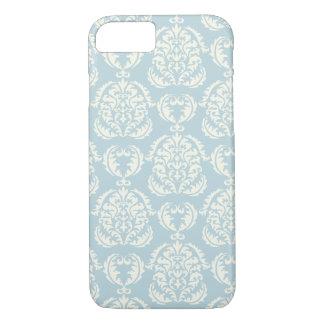 Shabby Chic Blue Damask Pattern Elegant iPhone 7 Case
