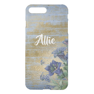 Shabby Chic Blue Gold Floral Phone Case