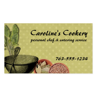shabby chic bowl whisk herbs spices chef biz cards pack of standard business cards