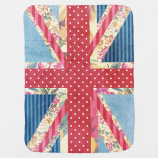 Shabby Chic | British Flag Pram blanket
