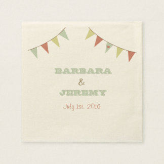 Shabby Chic Bunting Napkins Disposable Serviettes