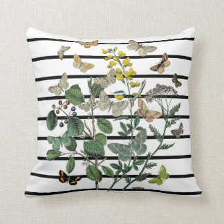 """Shabby Chic Butterflies Pillow (Cotton 16"""" x 16"""")"""
