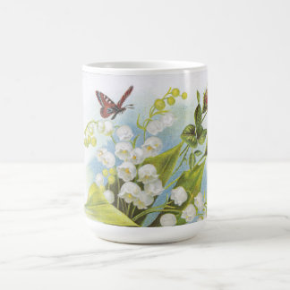Shabby Chic Butterfly, Roses & Lily of the Valley Coffee Mug