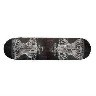 shabby chic chalkboard art girly vintage corset skate deck