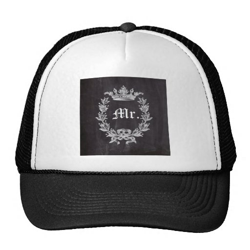 shabby chic chalkboard Mr and Mrs Hat