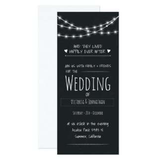 Shabby Chic Chalkboard Wedding Invitation