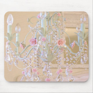 Shabby Chic Chandelier Mouse Pad