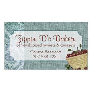 Shabby chic cherry basket baking bakery biz cards pack of standard business cards