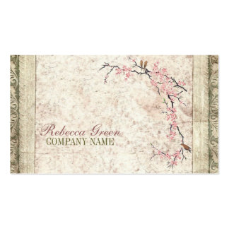 shabby chic cherry Blossom floral Country vintage Pack Of Standard Business Cards