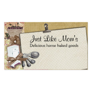 Shabby chic cherry icebox cooking baking biz cards business cards