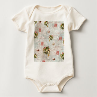 Shabby Chic Christmas Bells Stamps Baby Bodysuit