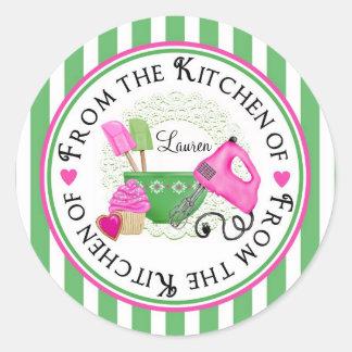 Shabby Chic Cupcake baking Stickers