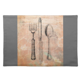 shabby chic cutlery placemat