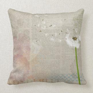 Shabby Chic Dandelion Pillow