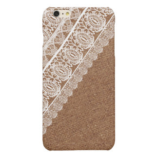 Shabby Chic Faux Burlap and Diagonal Lace