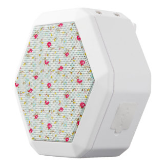 Shabby chic,floral,cute,country,red,white,turqouis white boombot rex bluetooth speaker