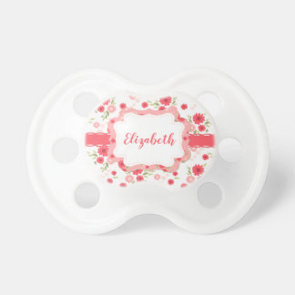 Shabby Chic Floral Pink White Flower Personalized Dummy