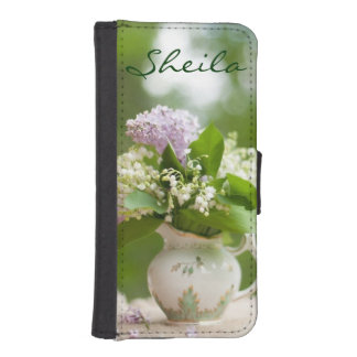 Shabby Chic Floral Teapot iPhone 5/5S Wallet Case