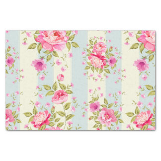 Shabby chic,floral,vintage,pink,blue,creame,trendy tissue paper