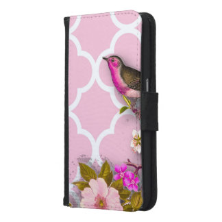 Shabby chic, french chic, vintage,floral,rustic,bi samsung galaxy s6 wallet case